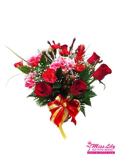 ดอกไม้ประดับโต๊ะ มิสลิลลี่