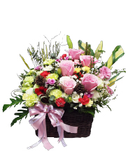 congratulation flower basket, congratulations, opening gift, exhibition congratulations