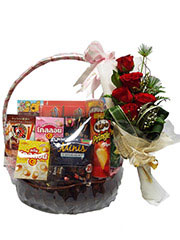 gift basket, new year basket