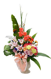 Miss Lily Flower Vase,flower shop,flower arrangements,send flowers,flower bouquet,flower basket,wreath