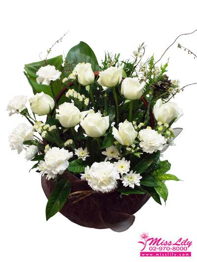 กระเช้าดอกไม้ มิสลิลลี่