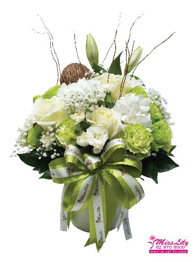 แจกันดอกไม้ มิสลิลลี่