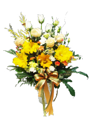 congratulation flower vase, congratulations,opening gift, exhibition congratulations