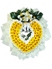 Miss Lily Flower Wreath, sympathy, funeral, flower wreath
